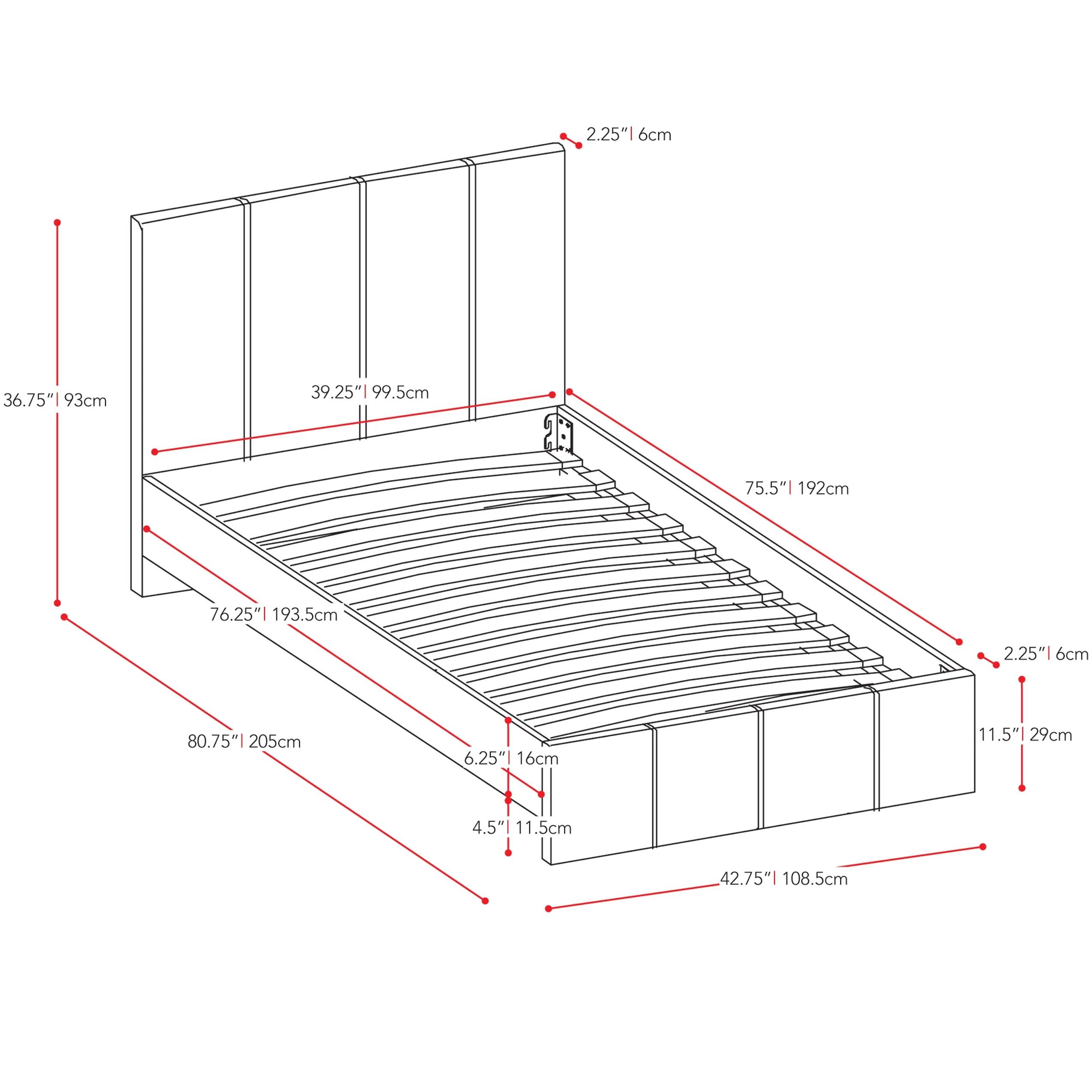 Corliving Fairfield Upholstered Platform Bed Amp Reviews