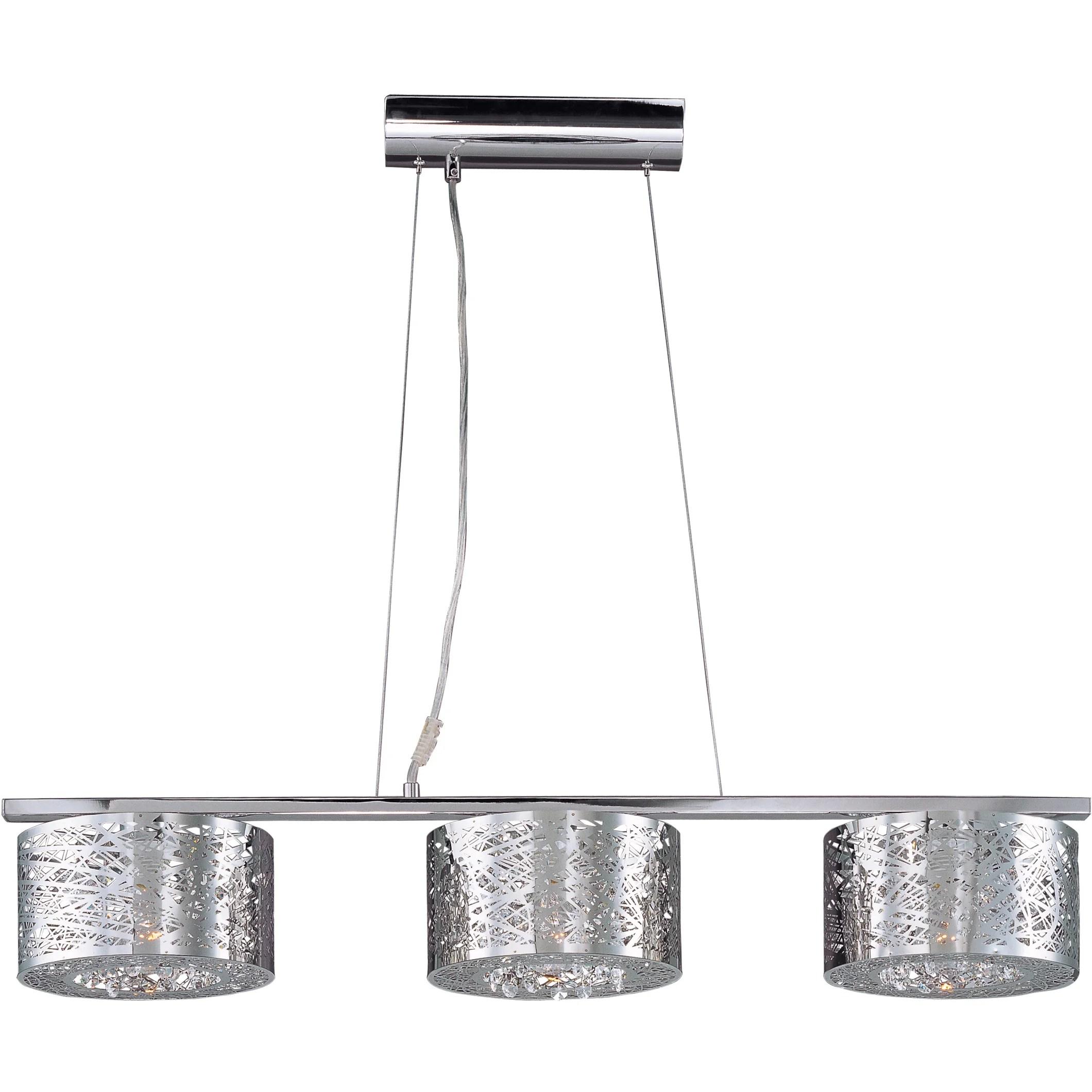 Wade Logan Ebro 3 Light Pendant With Led Bulb
