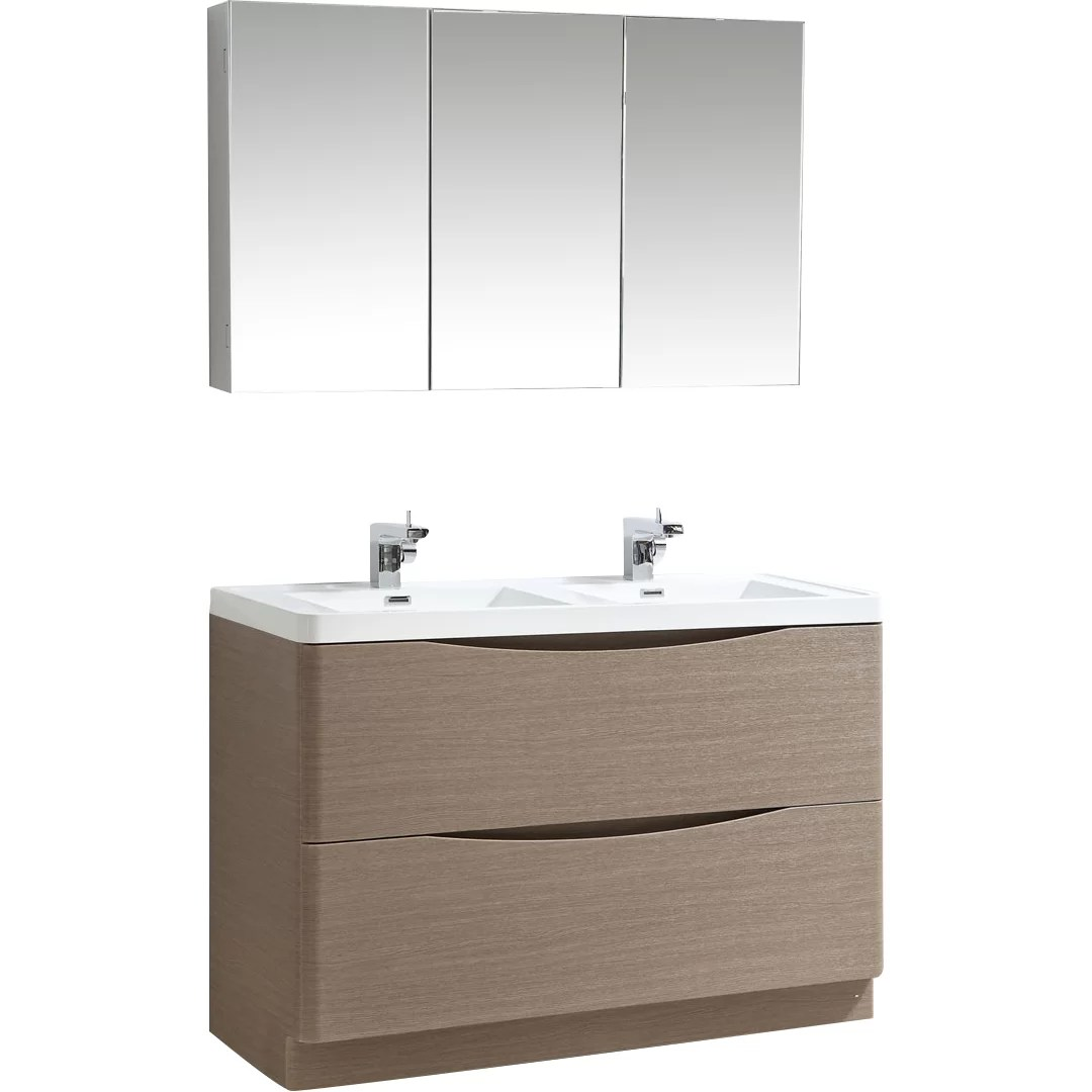 Belfry Mensa 120cm Double Basin Vanity Unit With Storage
