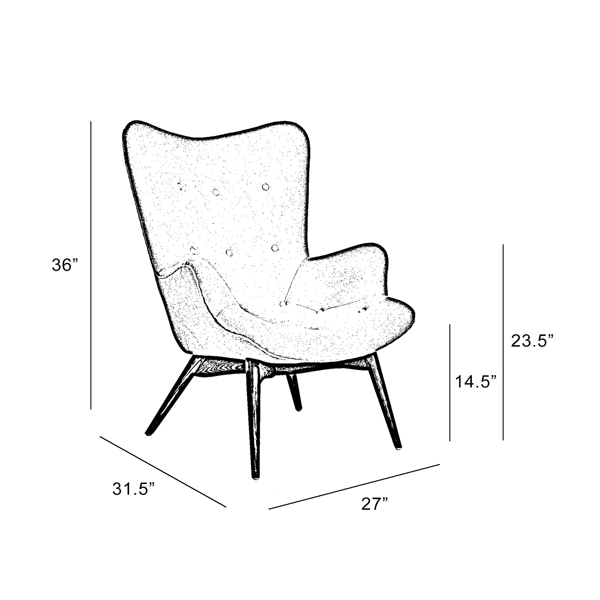 Design Lab Mn Mid Century Arm Chair Amp Reviews