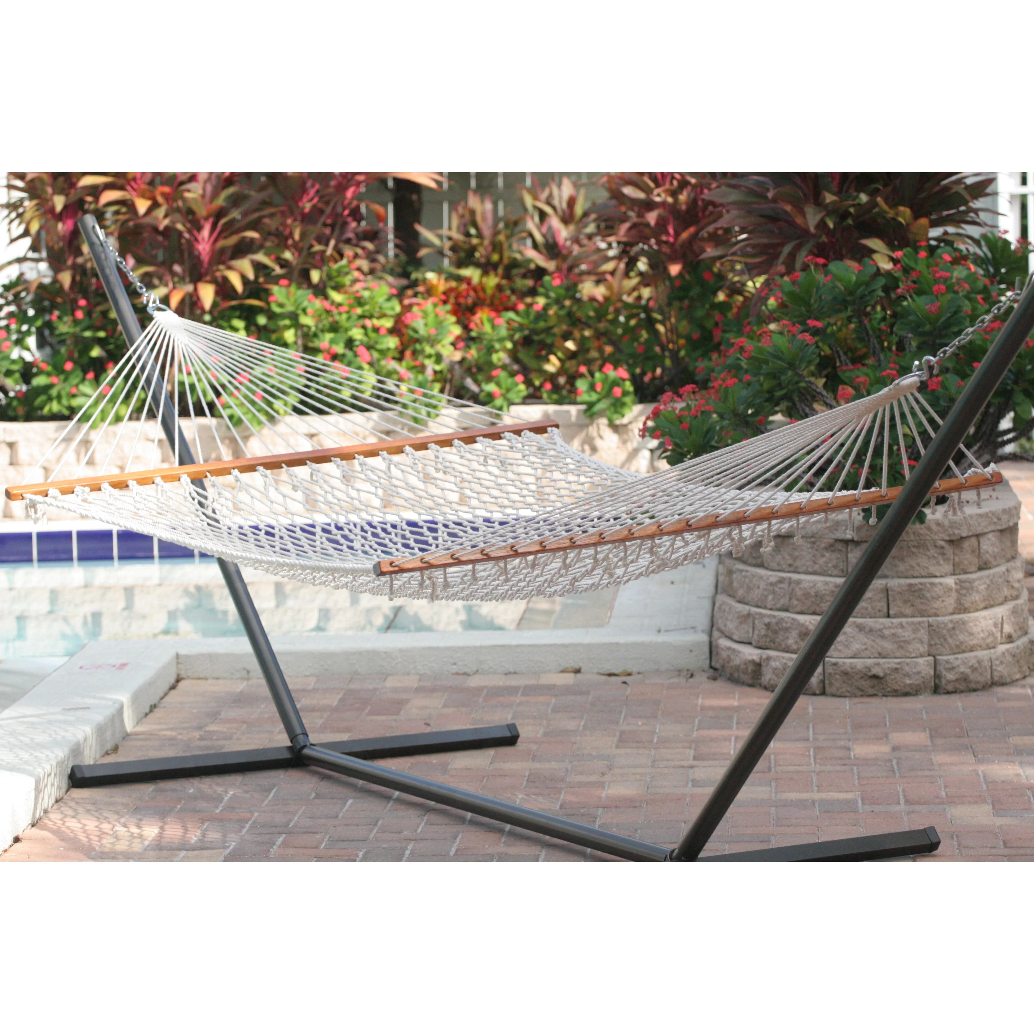 Smart Living Cancun Premium Two Person Rope Hammock