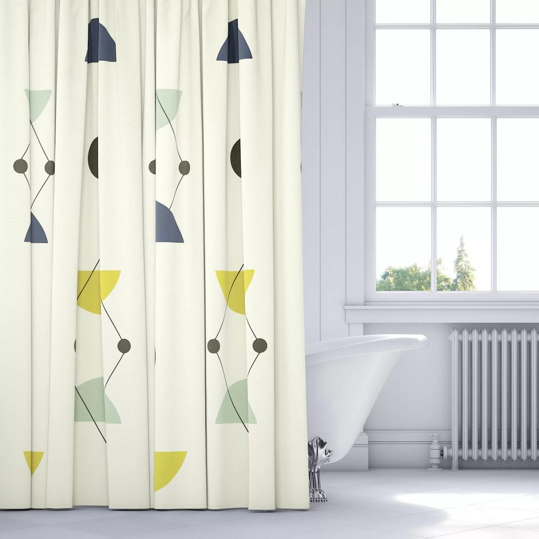 Midcentury Modern Shower Curtain