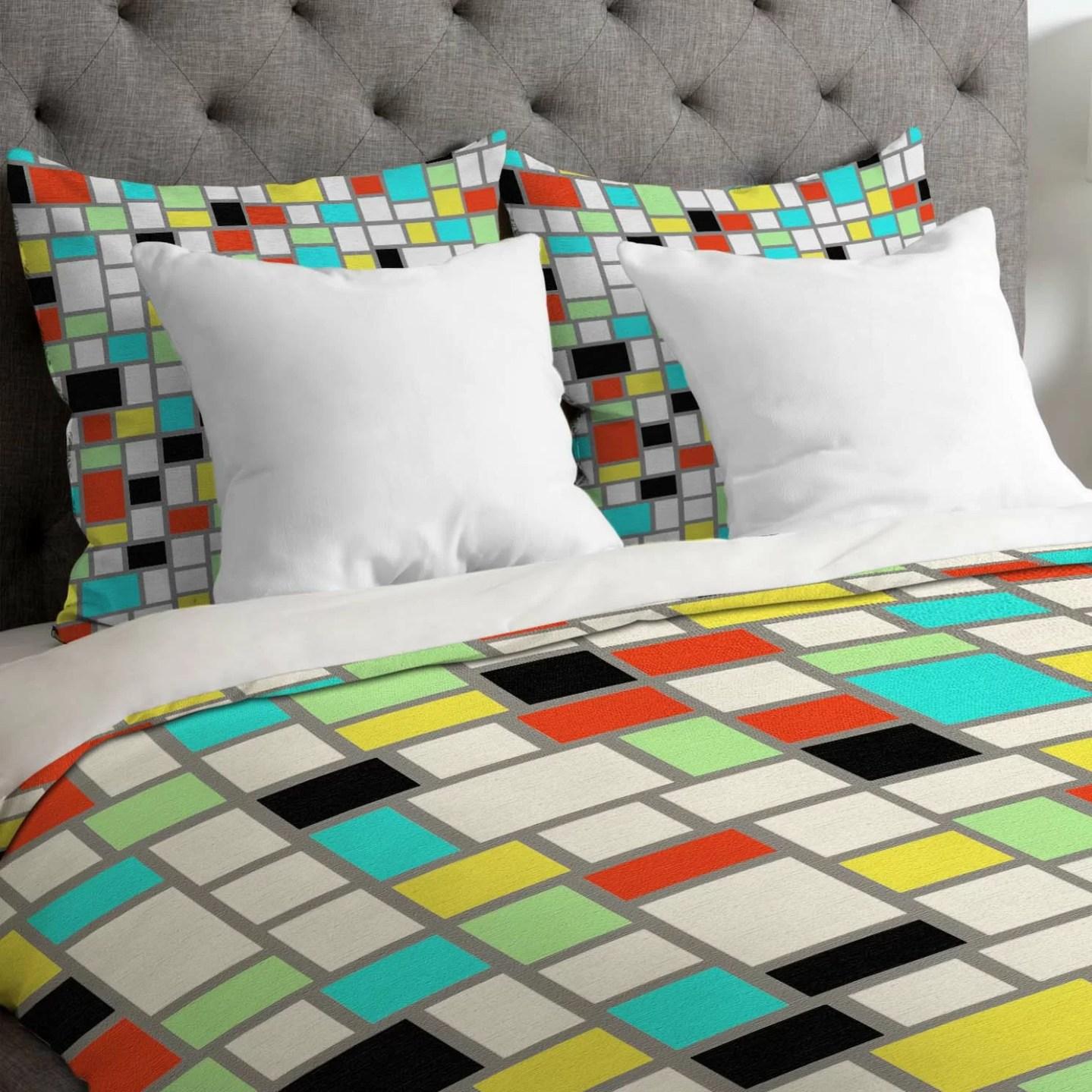 Midcentury Modern Geometric Duvet Cover