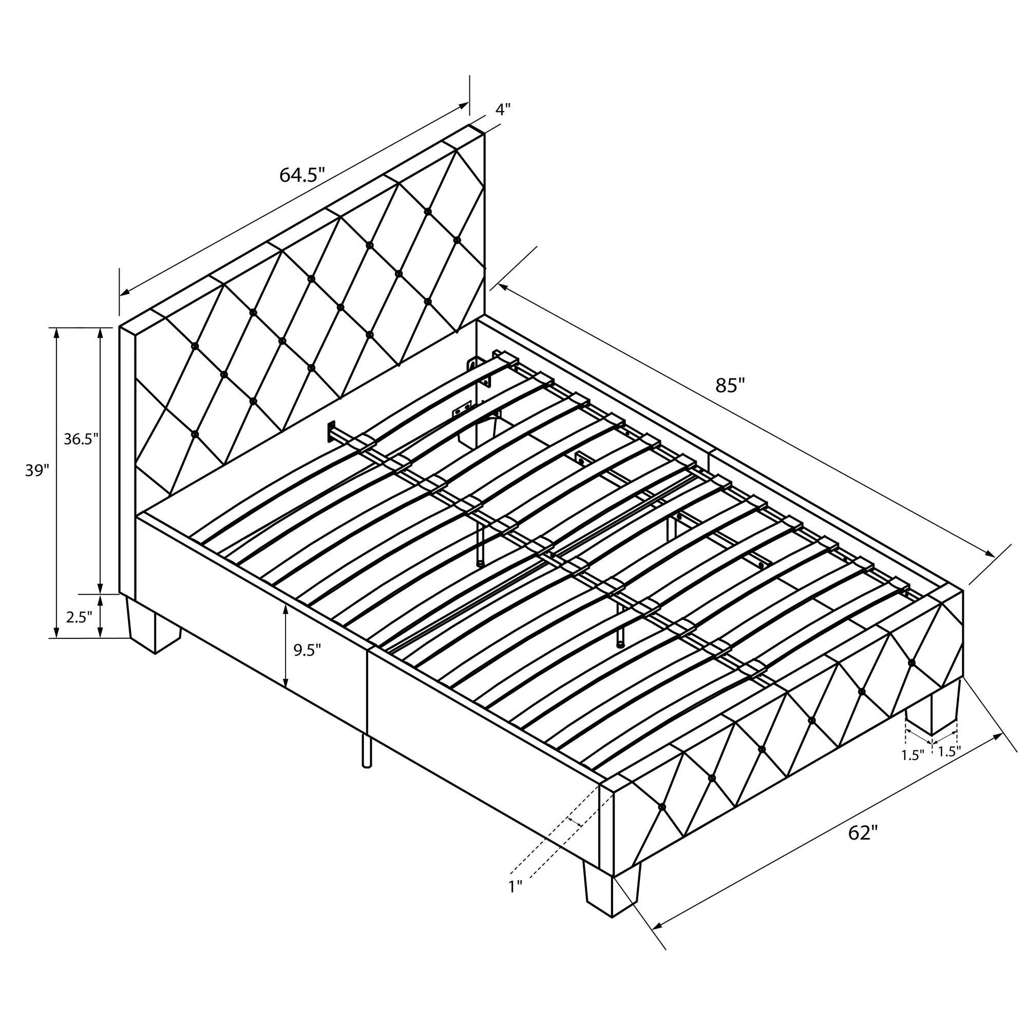 Dhp Dakota Upholstered Platform Bed Amp Reviews