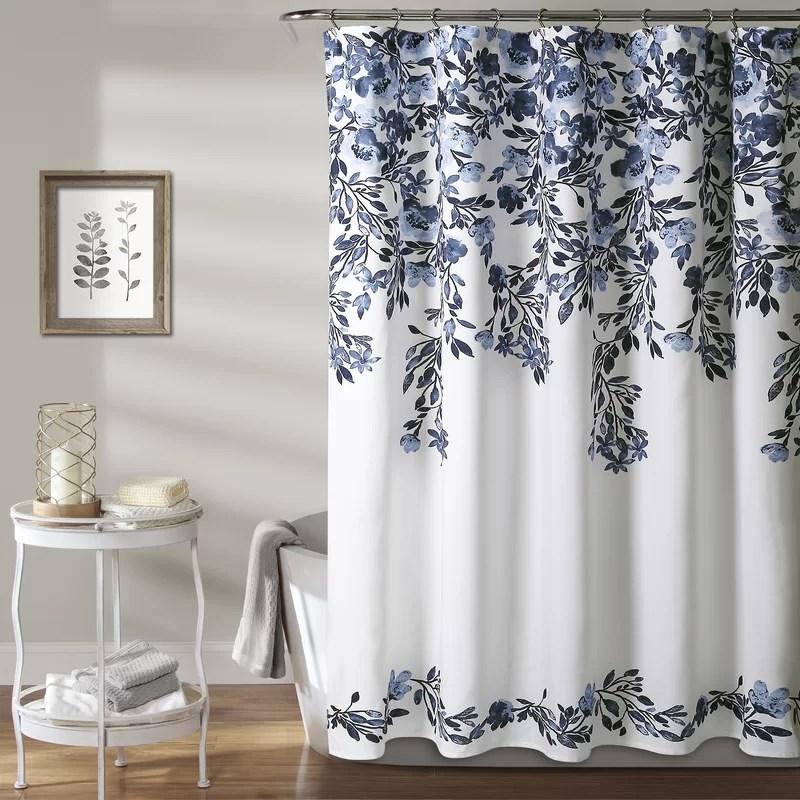 mascher floral single shower curtain