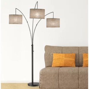 Floor Lamp With Drum Shade   Wayfair Save