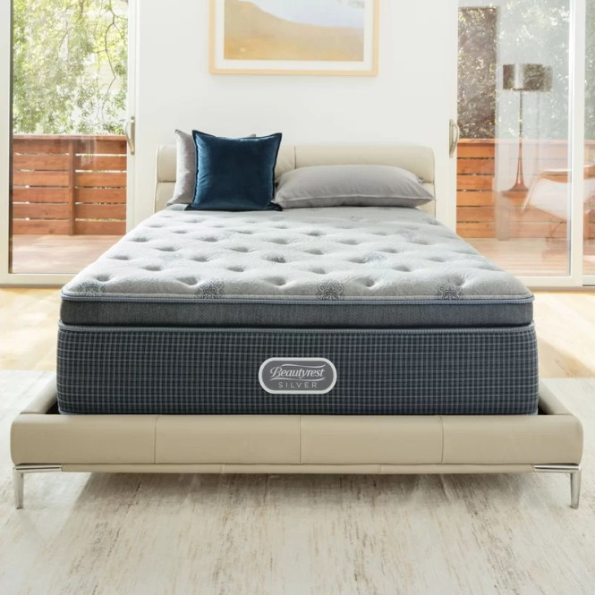 Beautysleep 13 5 Plush Pillow Top Cooling Gel Memory Foam Mattress Set