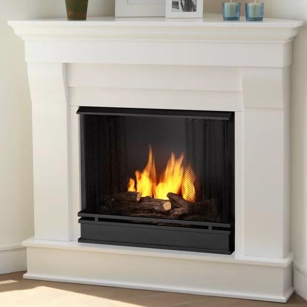 Real Flame Chateau Corner Gel Fuel Fireplace Amp Reviews Wayfair