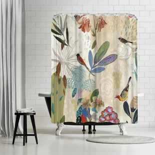 pi creative art where the passion flower grows i single shower curtain