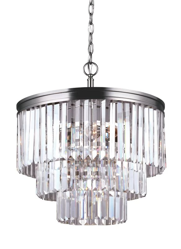 Domenique Traditional 4 Light Crystal Chandelier