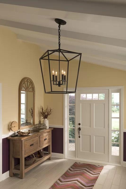 Norwell Lighting Cage 4 Light Foyer Pendant Amp Reviews