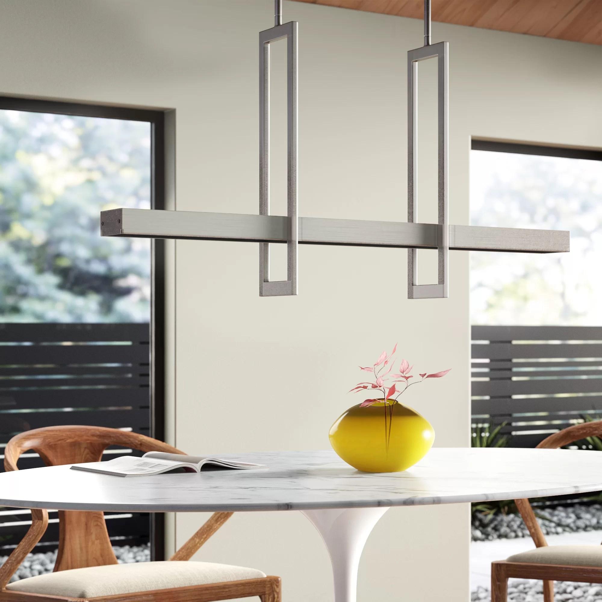 aljosha 5 light kitchen island square rectangle pendant