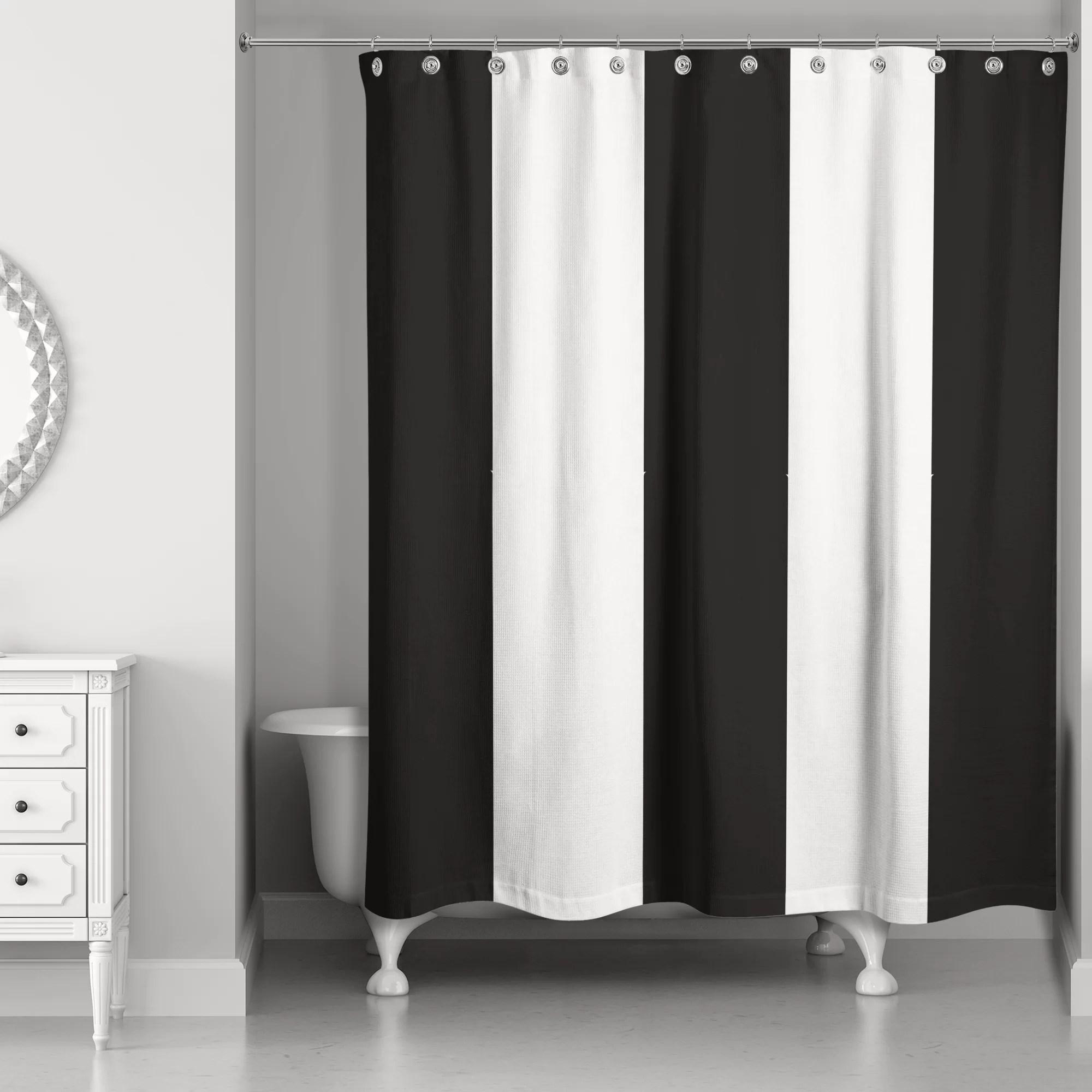 Pelaez Vertical Striped Single Shower Curtain