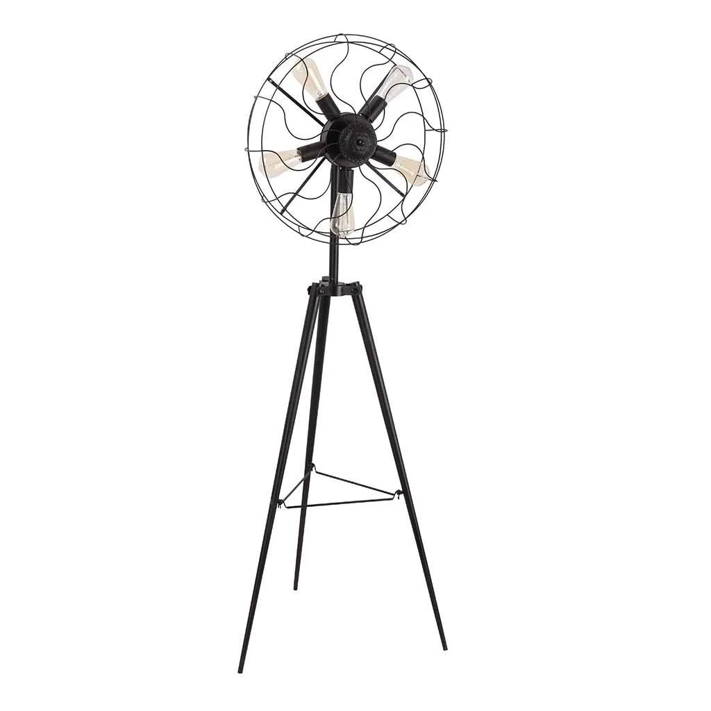 Urbanhomeindustrial Vintage Fan 65 Tripod Floor Lamp
