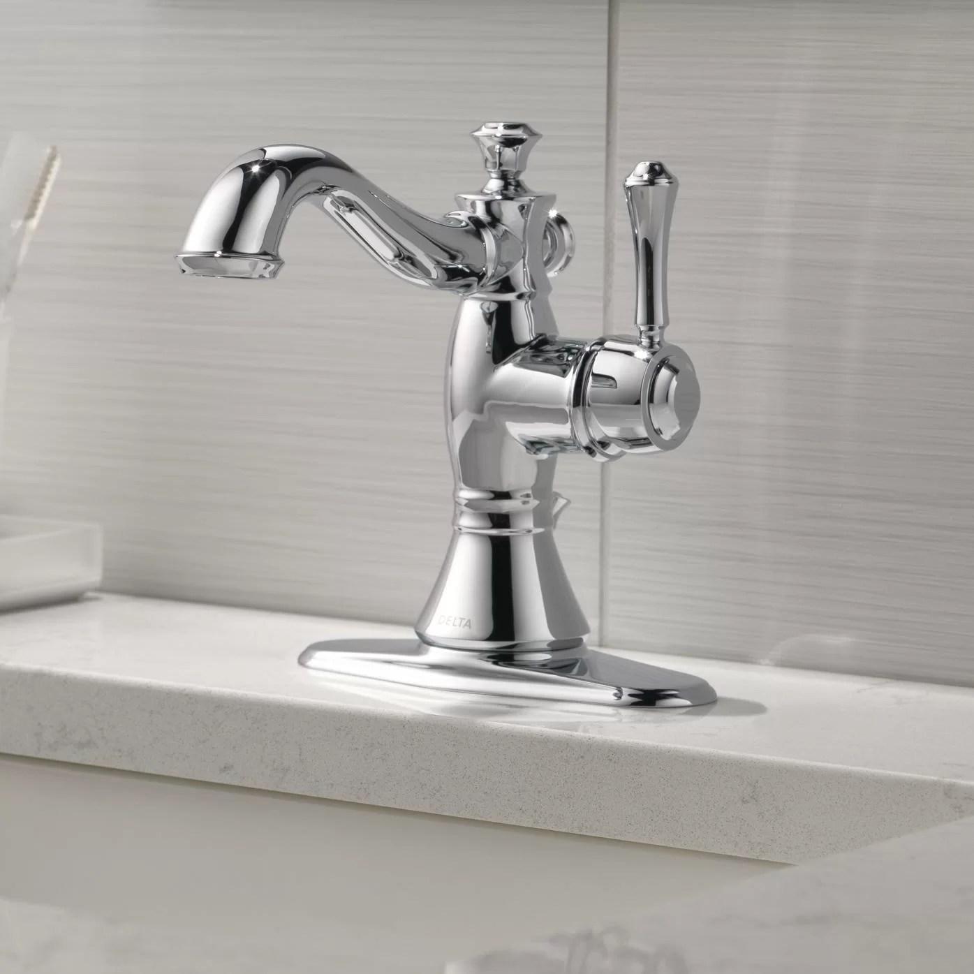 delta cassidy single hole bathroom faucet with drain assembly reviews wayfair ca