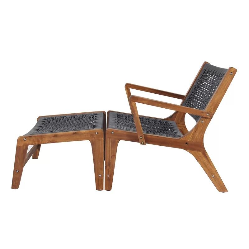 morabito sevilla patio chair with ottoman