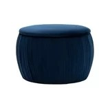 contemporary navy blue storage ottoman