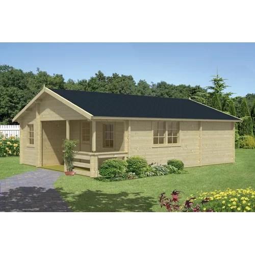 595 cm X 800 cm Gartenhaus Gueye Garten Living Dach: Biberschwanz Schwarz