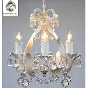 Tobias 4 Light Crystal Chandelier