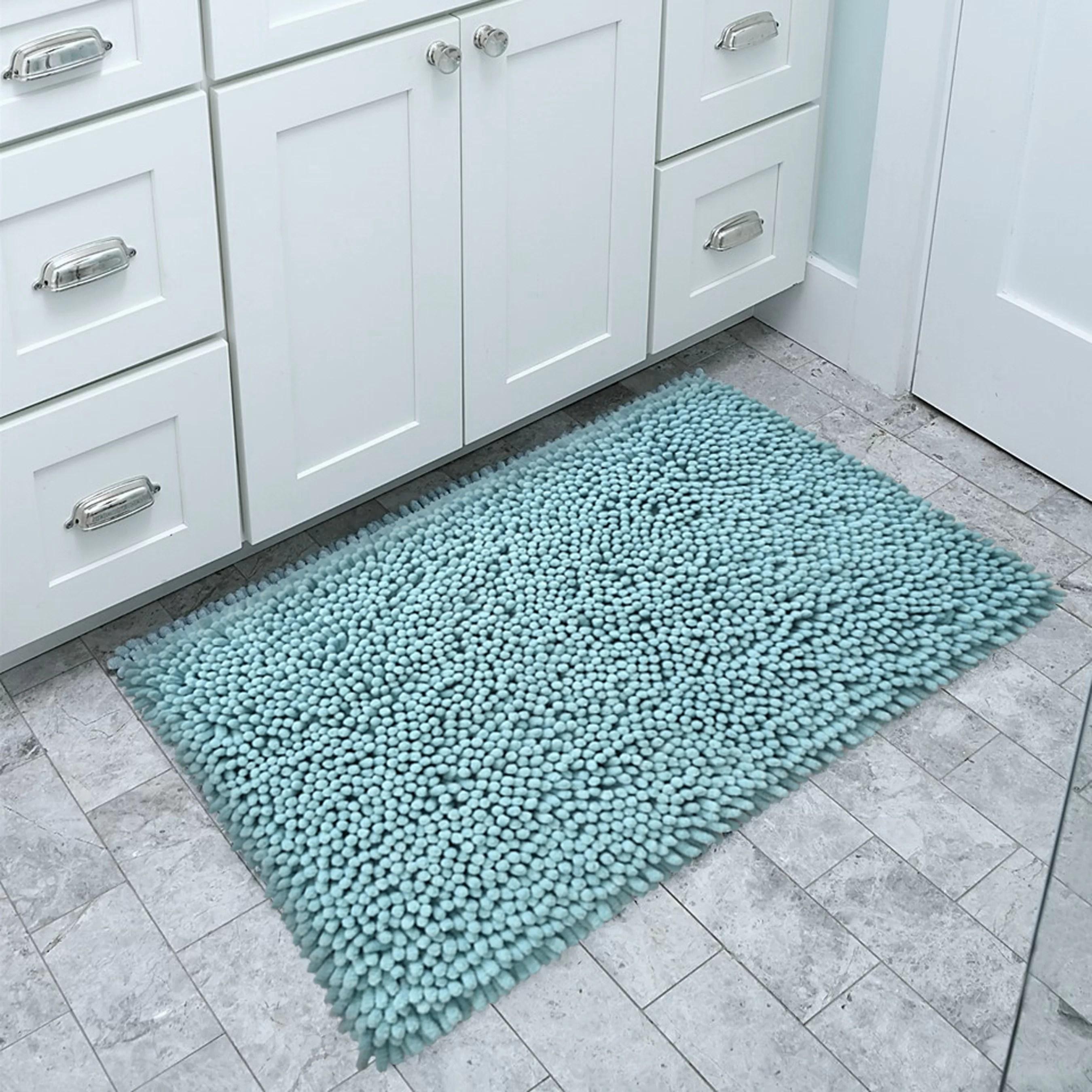 bath chenille bath mat rug set 100