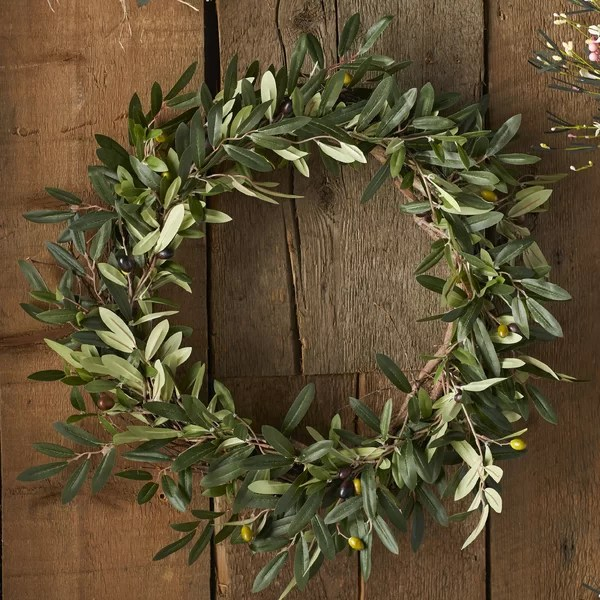 Charlton Home 20 Faux Olive Branch Wreath Amp Reviews Wayfair