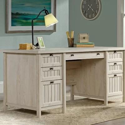 White Wood Desks Youll Love Wayfair