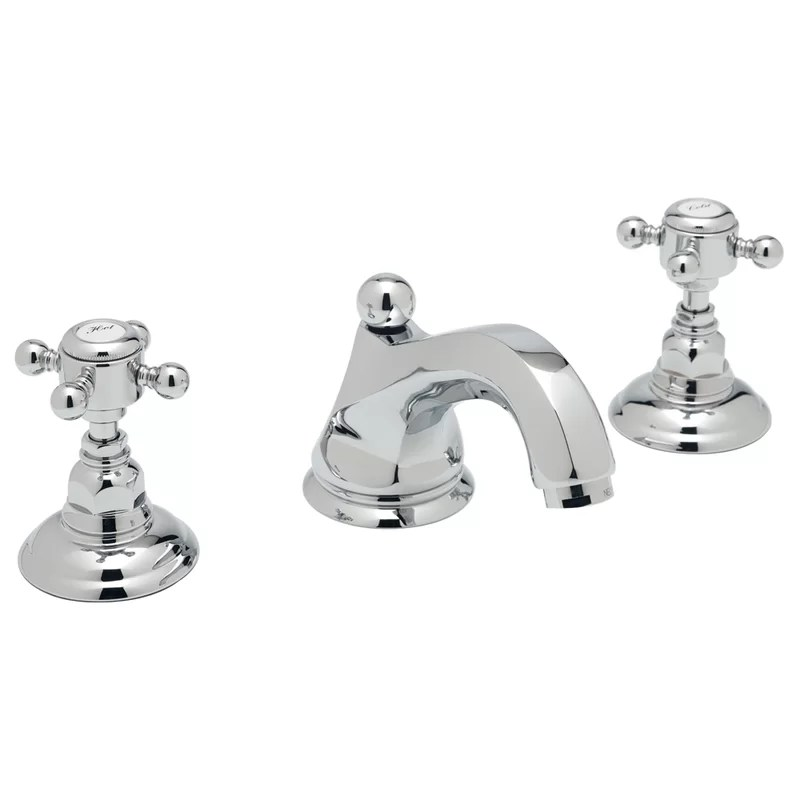rohl palladian high neck widespread lavatory faucet with cross handles
