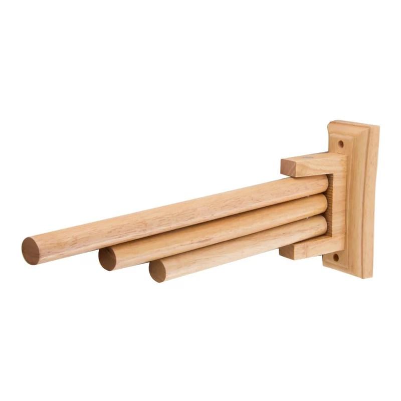 triple rack wooden 16 wall mounted towel bar
