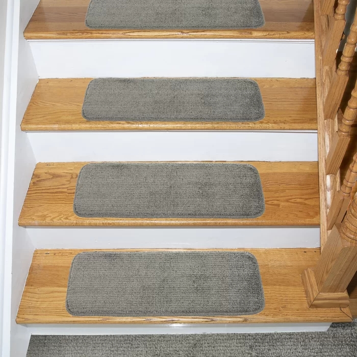 "Non Slip Stairway Carpet Rugs 8"" X 30 Includes Adhesive Tape   Elogio Carpet Stair Treads   Carpet Runners   Carpet Flooring   Skid Rubber   Pet Dog   Skid Resistant"