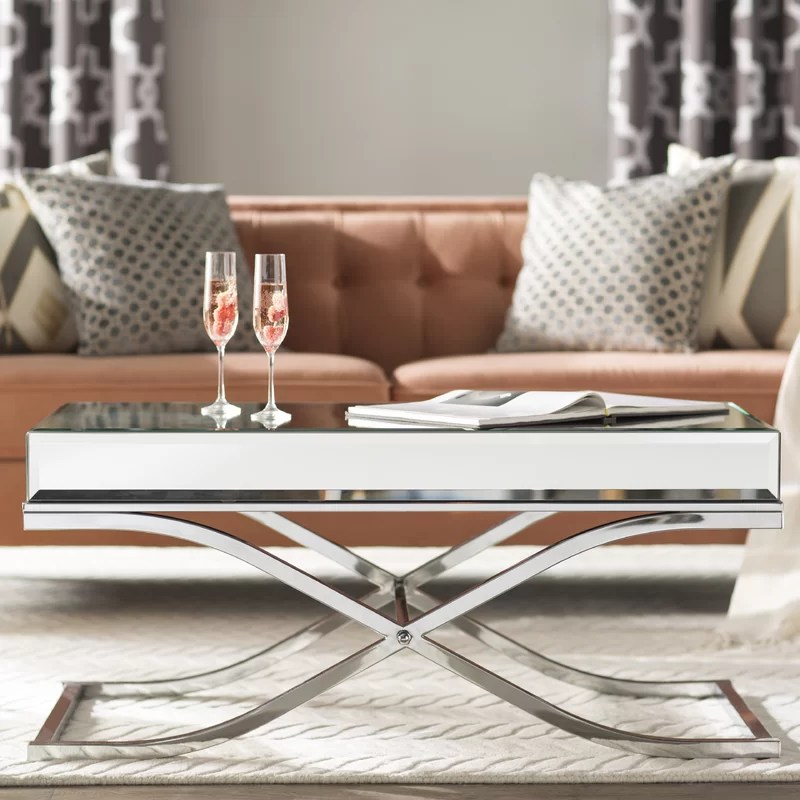 mirrored coffee tables to upgrade your