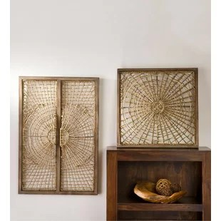 Rattan Wall Decor   Wayfair Handwoven Rattan Wall D    cor