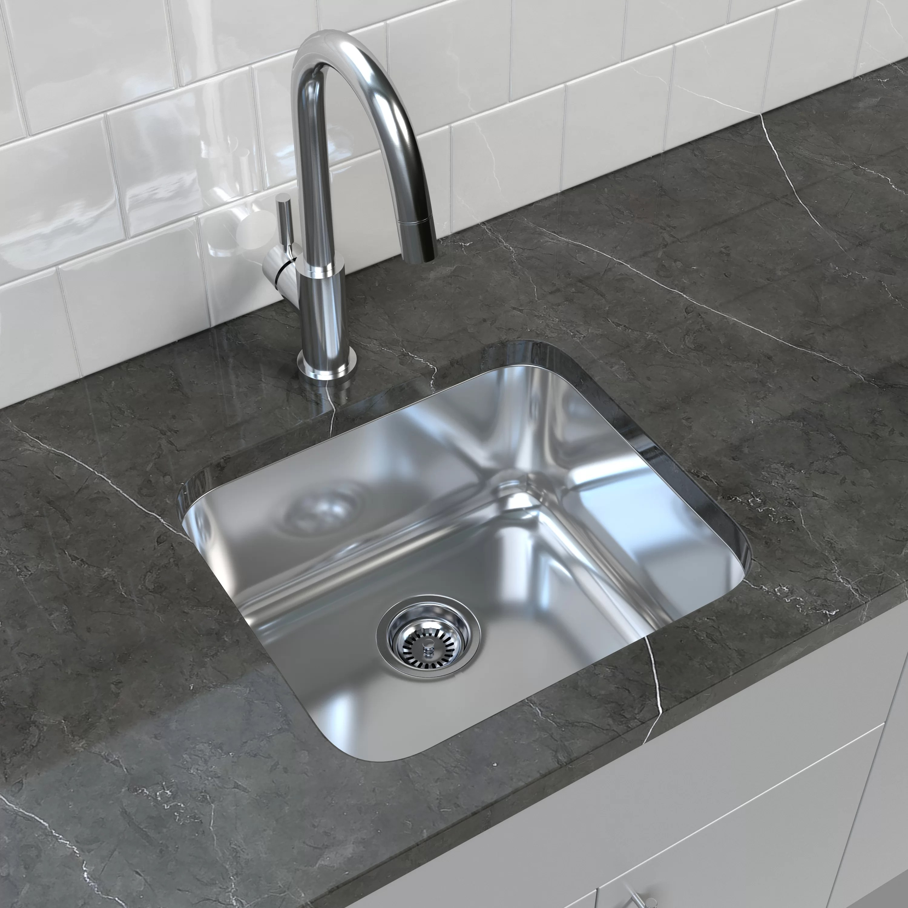 20 l x 18 w bar kitchen sink with sink and drain assembly and stopper