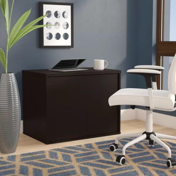 Tiernan Open Office Low Storage Cabinet Credenza Desk By