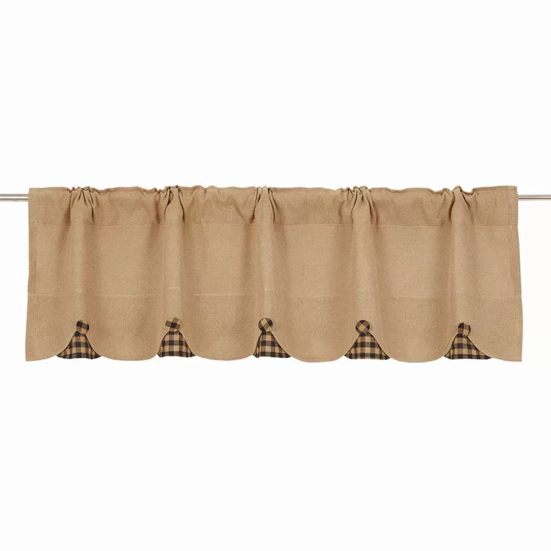 August Grove Addie Burlap Scalloped Curtain Valance