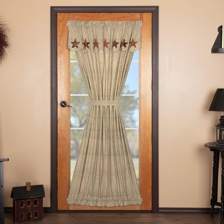 star door 100 cotton solid rod pocket single curtain panel
