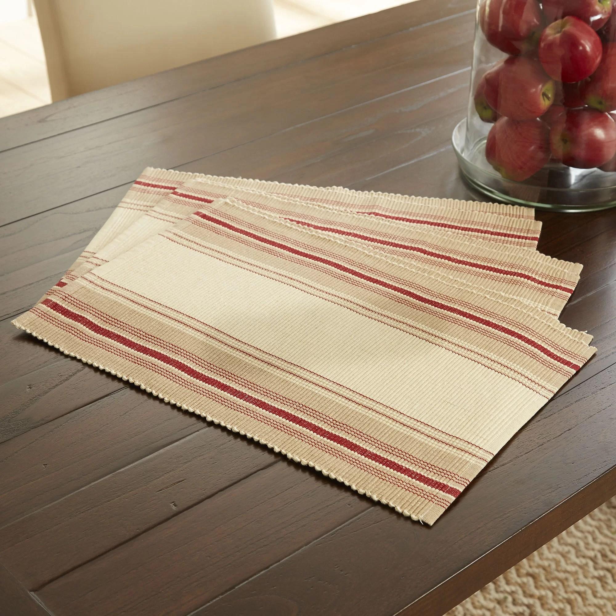 Beavercreek Striped 19 Cotton Placemat Reviews Birch Lane