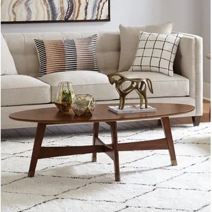 oval coffee tables you'll love | wayfair