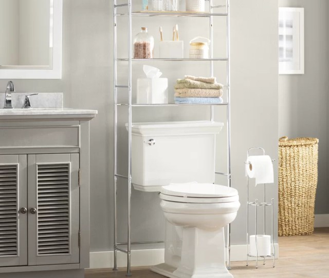 Wayfair Basics 22 83 W X 59 84 H Over The Toilet Storage Reviews Wayfair