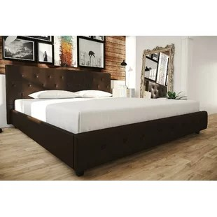 High Headboard Platform Bed   Wayfair Save