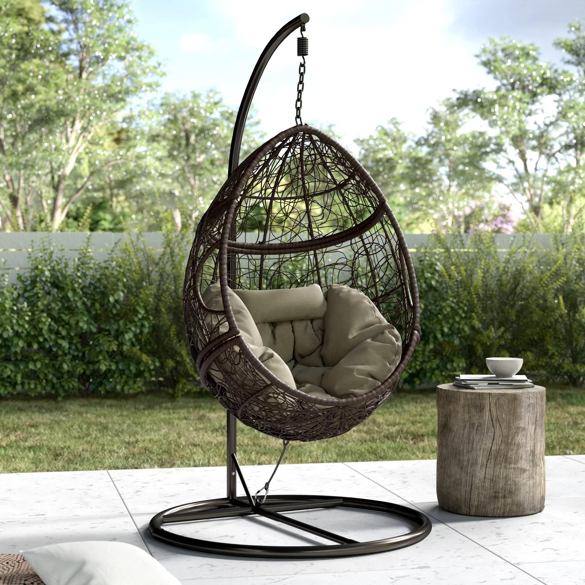 Trent Austin Design Dawson Outdoor Basket Swing Chair With