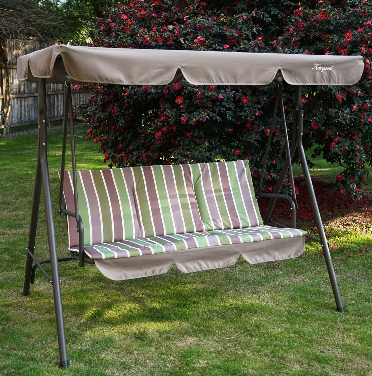 otterburn patio porch swing with stand