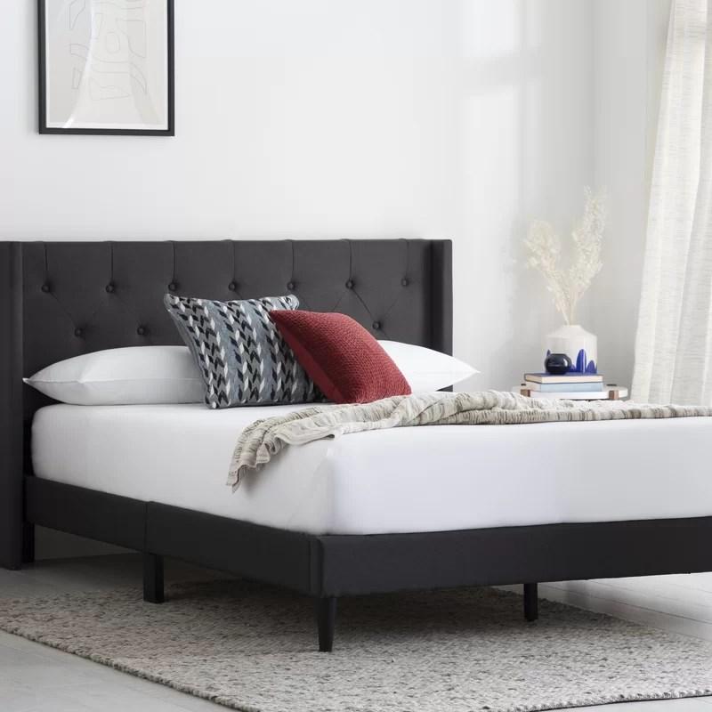 Sissinnguaq Tufted Upholstered Low Profile Platform Bed
