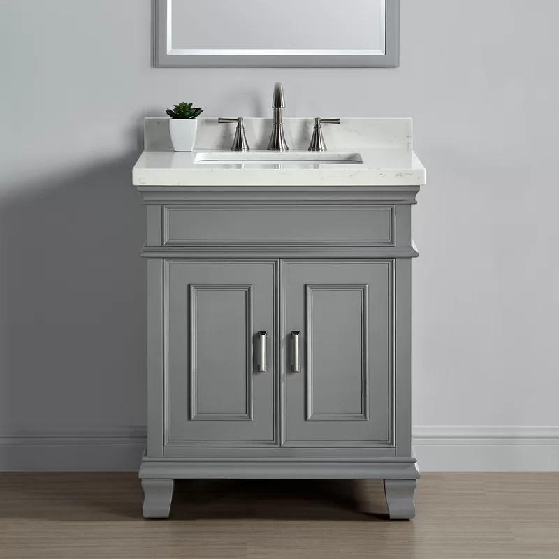 """beachcrest home anneke 28"""" single bathroom vanity set & reviews"""