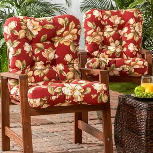 indoor outdoor seat back cushion set of 2