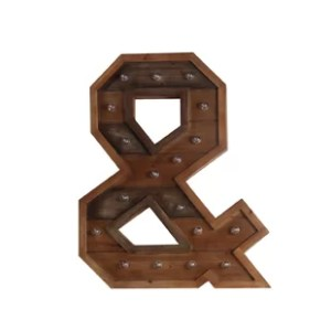 Wood Letters   Wayfair LED Wooden Letter Board