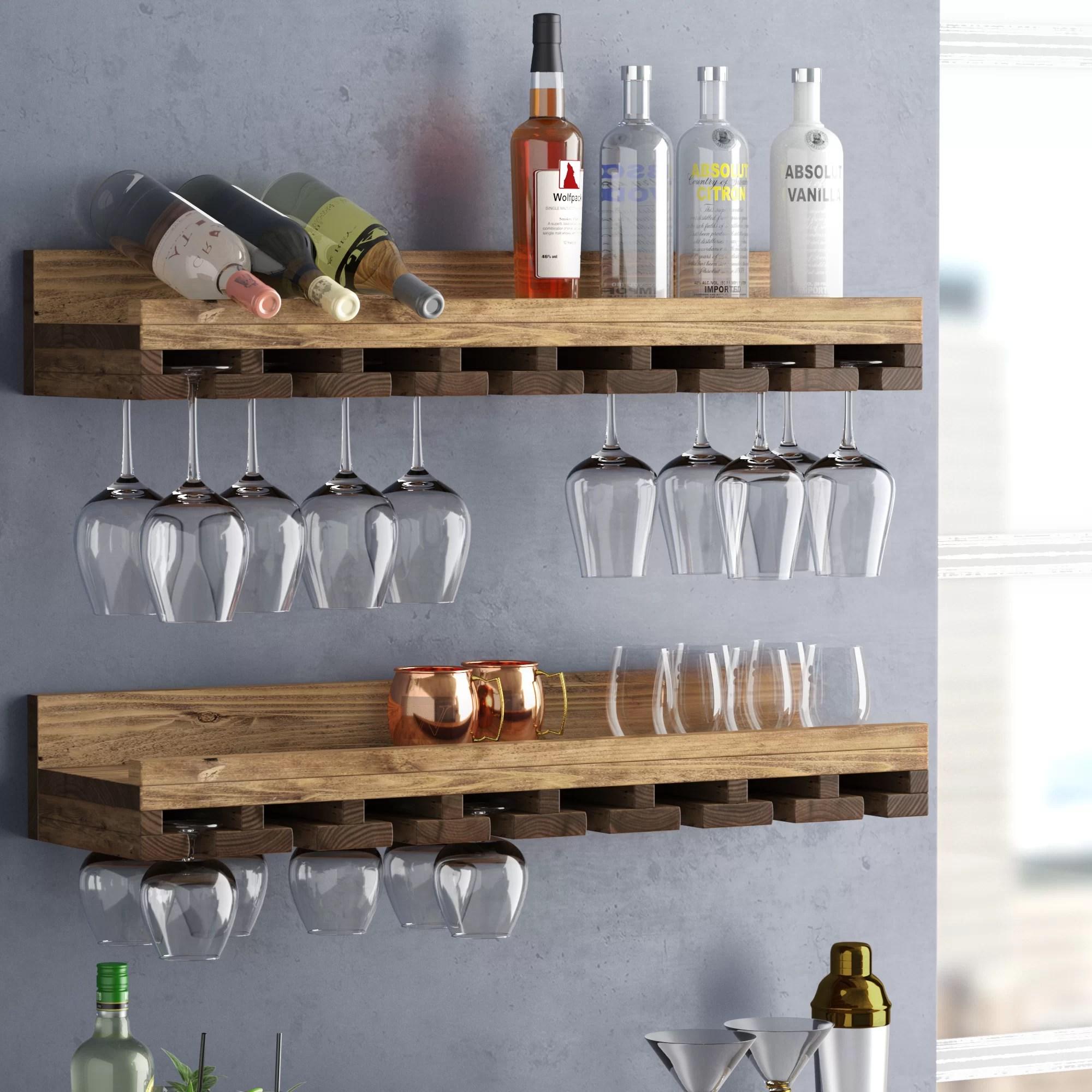 wall mounted iron wine rack bottle