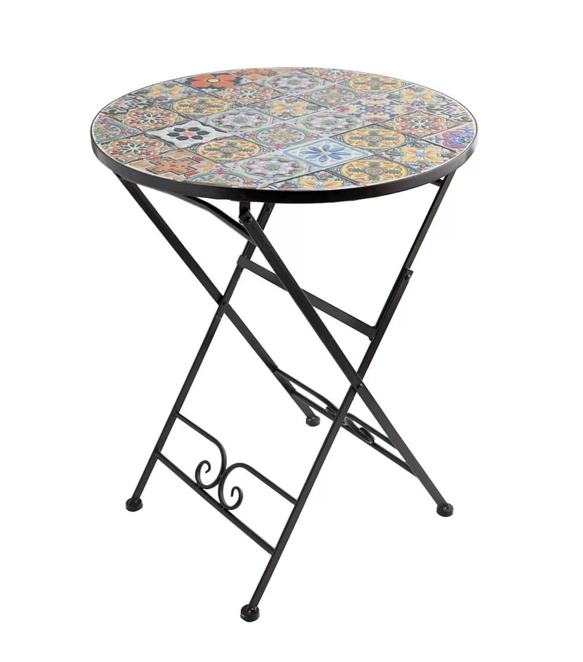 wind weather mosaic folding bistro table reviews wayfair