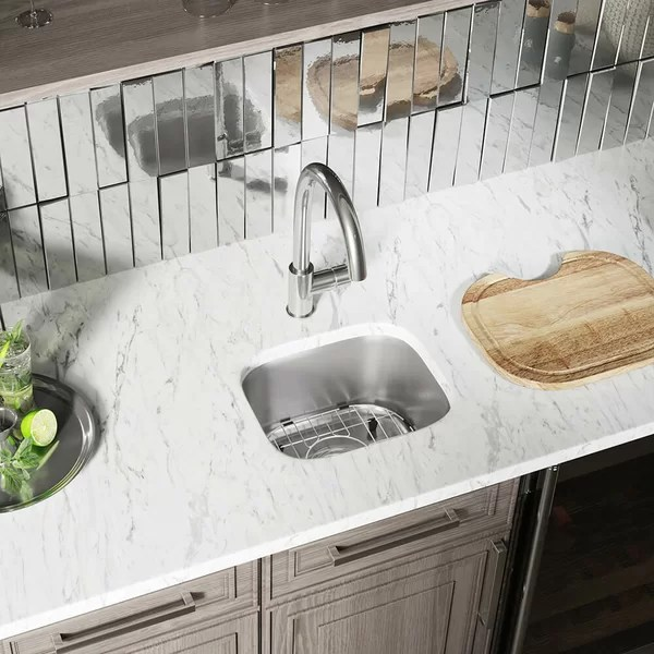 round undermount bar sink