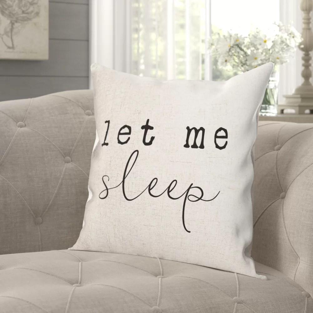 crofton let me sleep farmhouse throw pillow cover