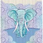 East Urban Home Elephant Shower Curtain Set Hooks